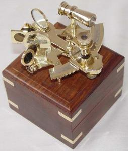 Nautical Sextant With Box