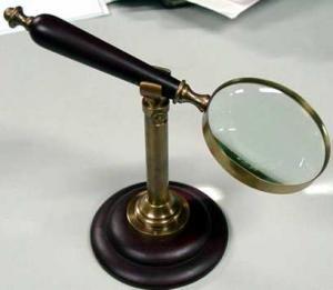 Vintage Antique  Magnifier On Stand