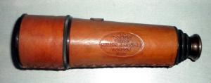 Henrey Hudges Embossed Leather Antique Telescope