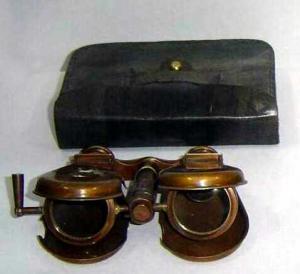 Spy Glass Antique Brass Binocular