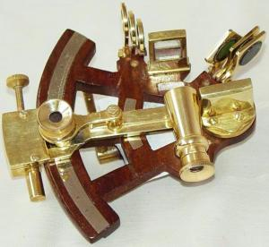 Nautical Sextant With Base