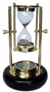 Nautical Brass Send Timer Hour Glass