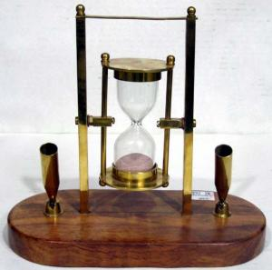 Hour Glass With Wooden Base