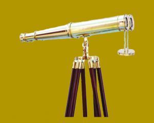 Brass Binocular With Tripod