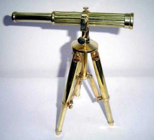 Nautical Brass Tripod Telescope