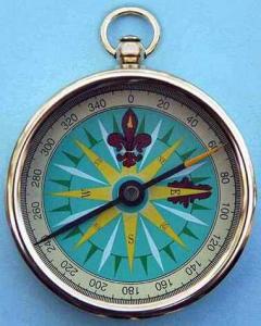 Polished Locket Compass