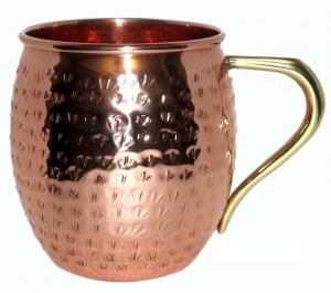 Copper Barrel Mug Hammered
