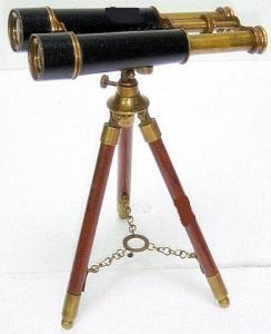 Antique Binocular With Tripod