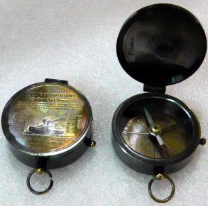 Flat Pocket Compass