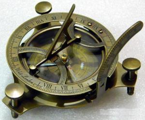 Antique Finish Sundial Compass