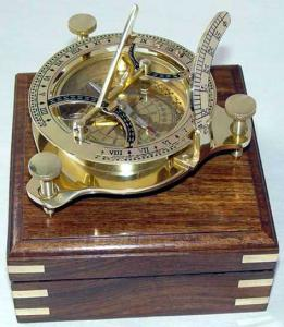 Sundial Compass With Rosewood Box