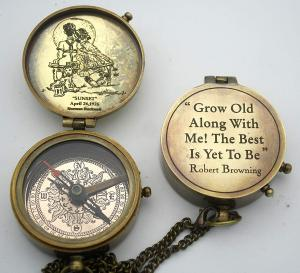 Custom Engraved Brass Compass