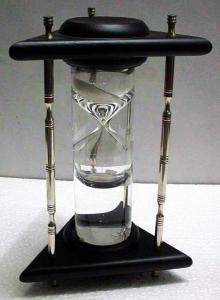 Vintage Brass Hour Glass Sand Timer