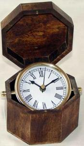 Table Clock With Wooden Box