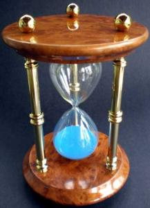 Sand Timer With Wooden Base